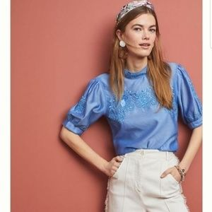 ANTHROPOLOGIE Payal Jain Carrington Embroidery Top